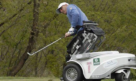 """Recari, Jiménez, García, Fernández-Castaño, Quirós y Larrazábal muestran su apoyo al """"European Challenge for Wheelchair Golfers 2014"""""""