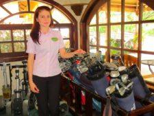Pro-shop con equipos para la renta