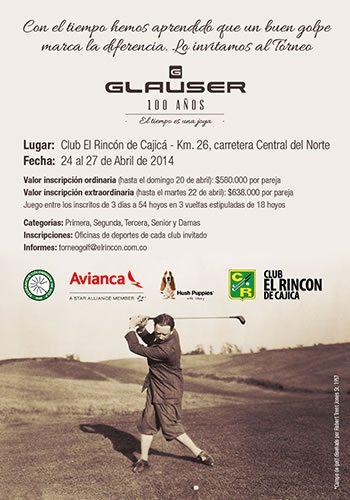 A finales de abril las parejas de aficionados podrán jugar el Torneo Glauser 100 años Club el Rincón