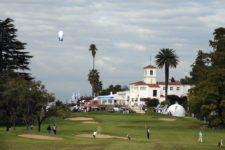 CÓRDOBA, ARGENTINA - ABRIL 17, 2014: Una hermosa vista del hoyo 9 y la casa clubn durante la primera ronda del 83° Abierto OSDE del Centro presentado por FiberCorp, evento que dio inicio este jueves en el Córdoba Golf Club. Enrique Berardi/PGA TOUR