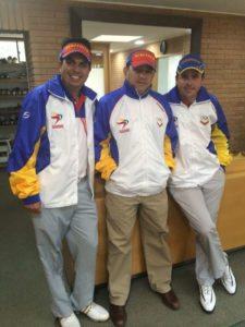 Atleta Otto Solís, Delegado Luís Guillén, y Atleta Alfredo Adrián (cortesía www.santiago2014.cl)