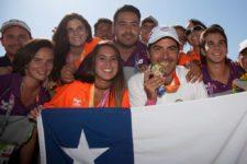 Chileno Aguilar con presea de Oro (cortesía Felipe Bezanilla/Publimetro Chile)