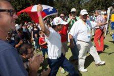 Felipe Aguilar al ganar (cortesía Felipe Bezanilla/Publimetro Chile)