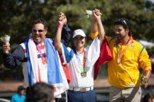 Ruiz, Aguilar y Garrido en el Podium de ganadores (cortesía Felipe Bezanilla/Publimetro Chile)