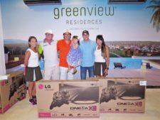 Modelo, Gary Rottenberg, Eddy Fortoul con su hija, Manuel Arias y modelo