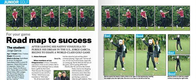 """""""Pichu"""" García analizado  en Golfweek"""