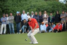 MONTEVIDEO, URUGUAY - 27 de abril: Ty Capps durante la ronda final del Roberto De Vicenzo Invitacional Copa NEC en el Club de Golf del Uruguay el 27 de abril de 2014. Enrique Berardi/PGA TOUR