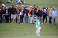 MONTEVIDEO, URUGUAY - 27 de abril: Tommy Cocha durante la ronda final del Roberto De Vicenzo Invitacional Copa NEC en el Club de Golf del Uruguay el 27 de abril de 2014. Enrique Berardi/PGA TOUR