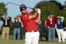 MONTEVIDEO, URUGUAY - ABRIL 26, 2014: El colombiano Marcelo Rozo durante la tercera ronda del Roberto De Vicenzo Invitational Copa NEC en el Club de Golf del Uruguay. Enrique Berardi/PGA TOUR