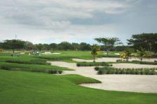Río Hato, Panamá (MAYO 20, 2014): Hermosa vista general del hoyo 6 del Buenaventura Golf Club durante una ronda de práctica previa al Lexus Panama Classic, primer evento del NEC Series-PGA TOUR Latinoamérica que se celebra en Panamá (Enrique Berardi/PGA TOUR)