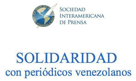 Solidaridad con periódicos venezolanos