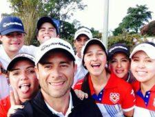 Selfie Equipo Venezuela & Coach Daniel Escalera (cortesía Alejandra Mauri)