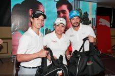 Ganadores de 2do. Gross - Adrián Ríos, Kristal Rivera (Gerente de Mercadeo de Claro Panamá) y Eduardo Deir