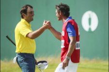 Francesco Molinari en green del 18 (Andrew Redington / Getty Images)