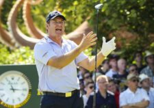 Sir Nick Faldo de Inglaterra (cortesía Andrew Redington / Getty Images)