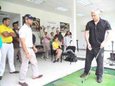 Daniel scalera imparte clases a Carlos Fraga