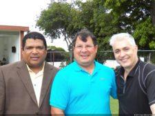 Miguel Martínez, presidente de la PGA de Vzla, Alberto Di Lorenzo, VP de la PGA de Vzla y el popular Carlos Fraga