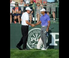 Phil Mickelson & Tiger Woods (cortesía PGA / Thomas J. Russo - Getty Images)