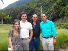 Leonela da Silva (Joyería Vagú)-Luís Rivas (Pres.Comisión Golf IZCC)-Jaime Álvarez (Superintendente IZCC) - Carlos Soucy (Pres. IZCC)