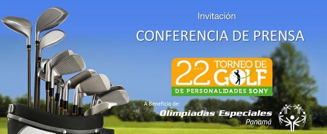 Invitación a la rueda de prensa del 22avo Torneo de Golf de Personalidades Sony