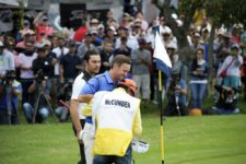 QUITO, ECUADOR - SEPTEMBER 28:Tyler McCumber from USA tee shot at the 18th hole during the final round of the Ecuador Open at Quito Tennis and Golf Club on September 28, 2014 in Quito, Ecuador. (Enrique Berardi/PGA TOUR)