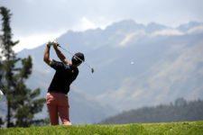 QUITO, ECUADOR (SEP. 26, 2014) El argentino Alan Wagner pega su tiro de salida en el hoyo 18 durante la segunda ronda del All You Need Is Ecuador Open en el Quito Tenis y Golf Club. (Enrique Berardi/PGA TOUR)