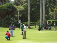 Golfistas en acción