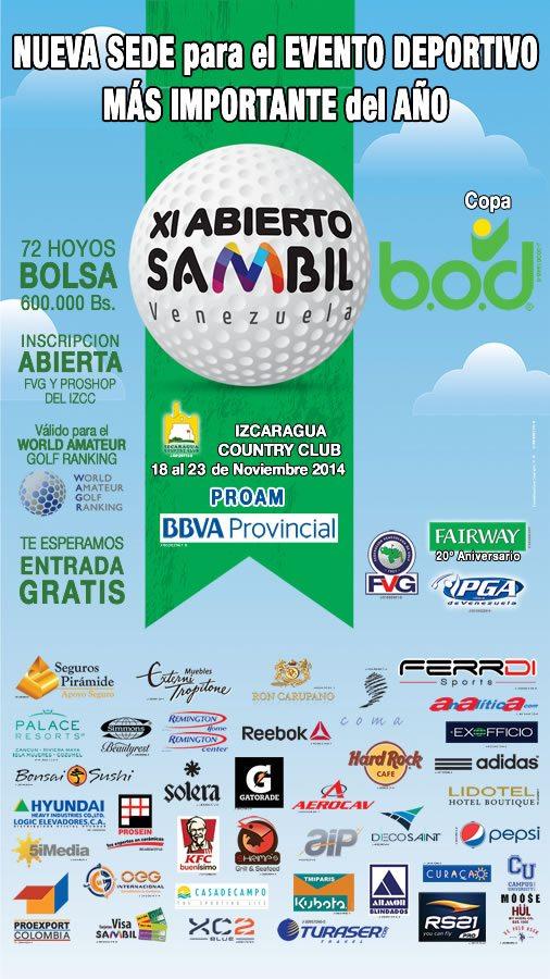 XI Abierto Sambil Nueva sede, Izcaragua Country Club. 18 al 22 de Noviembre