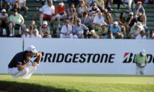BUENOS AIRES, ARGENTINA - (OCT. 25, 2014) - Emilio Domínguez de San Luis, Argentina se prepara para ejecutar un putt en el hoyo 18 durante la tercera ronda de la Bridgestone America's Golf Cup en Olivos Golf Club. (Enrique Berardi/PGA TOUR)