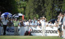 BUENOS AIRES, ARGENTINA (OCT. 25, 2014) - El argentino Rafael Echenique durante la ronda final de la Bridgestone America's Golf Cup que concluyó este domingo en Olivos Golf Club. (Enrique Berardi/PGA TOUR)