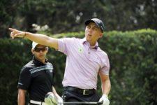 ESTADO DE MEXICO, MEXICO (OCT. 17, 2014) - El colombiano Oscar Álvarez después de pegar su tiro de salida en el hoyo 14 durante la segunda ronda del 56º TransAmerican Power Products CRV Abierto Mexicano del Golf presentado por Heineken en el Club de Golf Chapultepec. (Enrique Berardi/PGA TOUR)
