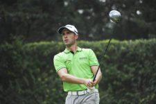 ESTADO DE MEXICO, MEXICO (OCT. 17, 2014) - El brasileño Alex Rocha pega su tiro de salida en el hoyo 14 durante la segunda ronda del 56º TransAmerican Power Products CRV Abierto Mexicano del Golf presentado por Heineken en el Club de Golf Chapultepec. (Enrique Berardi/PGA TOUR)