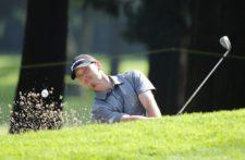 ESTADO DE MEXICO, MEXICO (OCT. 17, 2014) - El estadounidense Tyler McCumber pega desde un bunker en el hoyo 15 durante la segunda ronda del 56º TransAmerican Power Products CRV Abierto Mexicano del Golf presentado por Heineken en el Club de Golf Chapultepec. (Enrique Berardi/PGA TOUR)