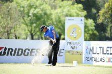 BUENOS AIRES, ARGENTINA - (OCT. 22, 2014) - El paraguayo Carlos Fanco pega su tiro de salida en el hoyo 4 durante el Pro-Am de la Bridgestone America's Golf Cup en Olivos Golf Club. (Enrique Berardi/PGA TOUR)