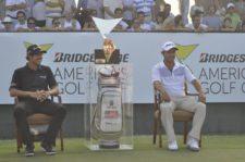 Domínguez & Echenique & Maleta de Tiger Woods (cortesía Fairway.com.ar Gustavo Álvarez)