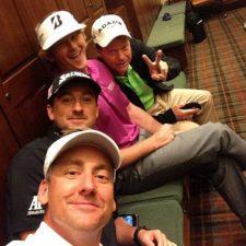 Ian Poulter, Graeme McDowell, Snedeker y Tom Watson (cortesía www.golfdigest.com)