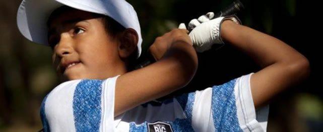 Un niño prodigio del golf Argentino se roba los titulares