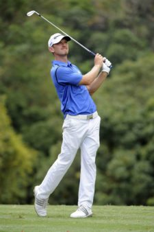 RIO DE JANEIRO, BRASIL - NOVEMBER 8: Tyler Mccumber of the U.S tees off on the fourth hole during the third round of the Aberto do Brasil/Aberto do Atlantico presented by Credit Suisse Hedging-Griffo at Gavea Golf and Country Club on November 8, 2014 in Rio de Janeiro, Brazil. (Enrique Berardi/PGA TOUR)
