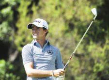 SANTIAGO, CHILE (NOV. 14, 2014) - El argentino Jorge Fernández Valdés pega su tiro de salida en el hoyo 3 durante la segunda ronda del Hyundai - BBVA 88° Abierto de Chile en el Club de Golf Los Leones. (Enrique Berardi/PGA TOUR)