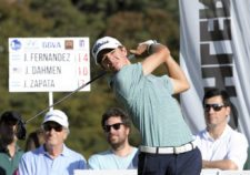 SANTIAGO, CHILE - NOVEMBER 15: Jorge Fernandez Valdes of the U.S tees off on the 16th hole during the third round of the Hyundai - BBVA 88° Abierto de Chile at Los Leones Golf Club on November 15, 2014 in Santiago, Chile. (Enrique Berardi/PGA TOUR)