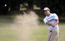 BUENOS AIRES, ARGENTINA (NOV. 28, 2014) - El argentino Fabián Gómez saca de un bunker en el hoyo 15 durante la segunda ronda del Personal Classic en Las Praderas Club Campos de Golf. (Enrique Berardi/PGA TOUR)