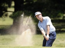 BUENOS AIRES, ARGENTINA - NOVEMBER 28: Brad Hopfinger of the U.S chips out of a bunker on the 17th hole during the second round of the Personal Classic at Las Praderas Club Campos de Golf on November 28, 2014 in Luján, Buenos Aires, Argentina. (Enrique Berardi/PGA TOUR)