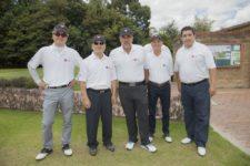 Torneo de Golf LG Electronics. De izquierda a derecha: Julio Baek, presidente LG Electronics Colombia; Hyun Ho Woo, director financiero LG Electronics Colombia; Juan Carlos Pava; Guillermo Santos; Juan Pablo Rincón, gerente de mercadeo LG Electronics Colombia