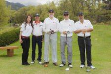 Torneo de Golf LG Electronics. De izquierda a derecha: Guillermo Santos; William Vinasco; Julio Baek, presidente LG Electronics Colombia; Juan Carlos Pava