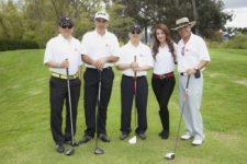 Torneo de Golf LG Electronics. De izquierda a derecha: Adolfo Pérez; Jorge Stellabati; Hyun Ho Woo, director financiero LG Electronics Colombia; Álvaro Pava
