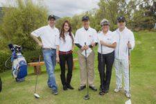 Torneo de Golf LG Electronics. De izquierda a derecha: Vicente Casas, Darío Restrepo, María Mercedes Cuellar, Rafael Yoo