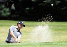 SANTIAGO, CHILE (NOV. 13, 2014) - Armando Favela de México sacando de un bunker en el hoyo 17 durante la primera ronda del Hyundai - BBVA 88° Abierto de Chile en el Club de Golf Los Leones. (Enrique Berardi/PGA TOUR)