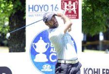 SANTIAGO, CHILE (NOV. 13, 2014) - El uruguayo Juan Ignacio Lizarralde pega su tiro de salida en el hoyo 16 durante la primera ronda del Hyundai - BBVA 88° Abierto de Chile en el Club de Golf Los Leones. (Enrique Berardi/PGA TOUR)