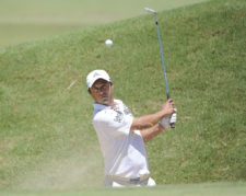 BUENOS AIRES, ARGENTINA - DECEMBER 5: Rafael Echenique of Argentina chips out of a bunker on the 14th hole during the second round of the 109° VISA Open de Argentina presentado por Peugeot at Martindale Country Club on December 5, 2014 in Buenos Aires, Argentina. (Enrique Berardi/PGA TOUR)
