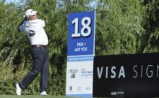 BUENOS AIRES, ARGENTINA - DECEMBER 5: Angel Cabrera of Argentina tee off on the 18th hole during the second round of the 109° VISA Open de Argentina presentado por Peugeot at Martindale Country Club on December 5, 2014 in Buenos Aires, Argentina. (Enrique Berardi/PGA TOUR)